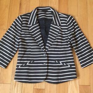 Express Striped Knit Blazer